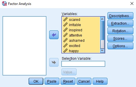 How to run exploratory factor analysis test in SPSS