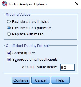 how to run exploratory factor analysis test in SPSS statistical software by using an example