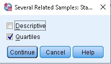how to run friedman test in spss
