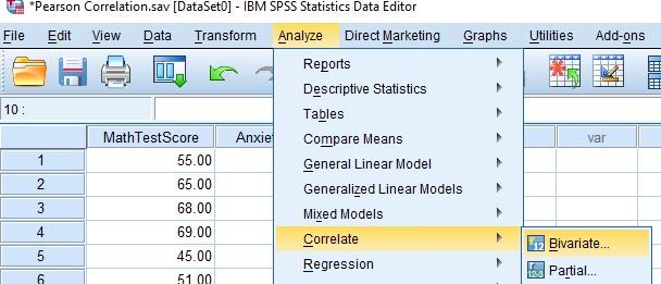 Pearson Correlation Analysis SPSS