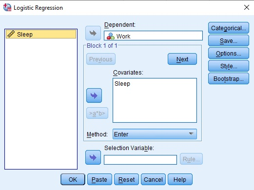 Logistic Regression SPSS