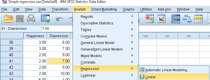 Linear Regression Analysis SPSS