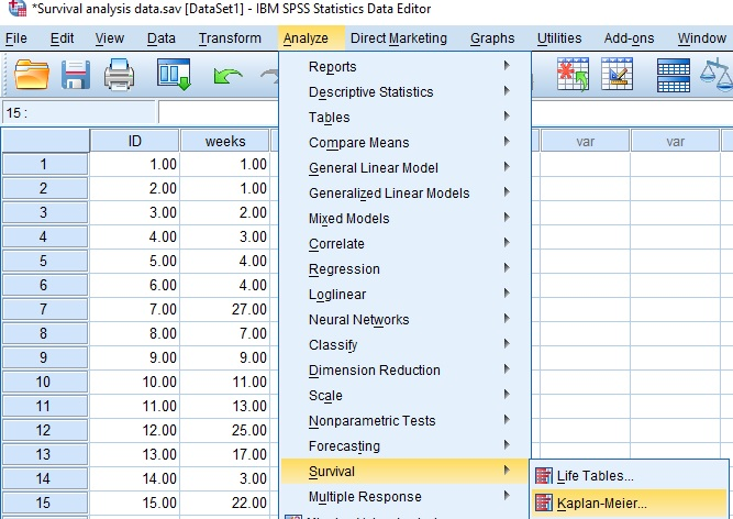 Survival Analysis in SPSS