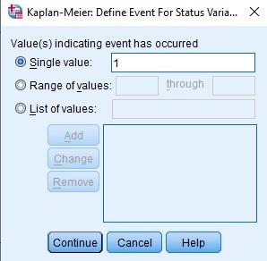 Define Event in SPSS Menu