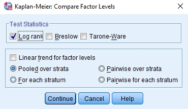 Compare Factor in SPSS Menu
